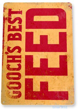 tin sign c833 goochs best feed retro rustic feed seed store farm barn sign tinworld tinsign_com