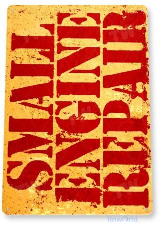 tin sign c834 small engine repair rustic retro garage sign engine shop sign tinworld tinsign_com