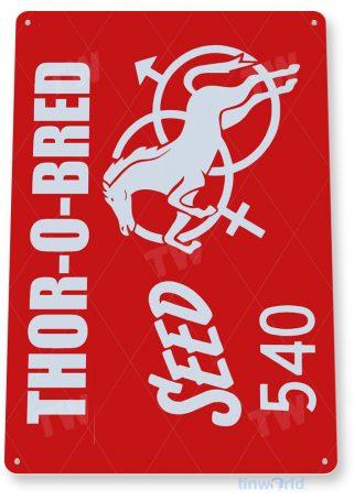 tin sign c841 thor-o-bred sead retro rustic feed seed store farm barn sign tinworld tinsign_com