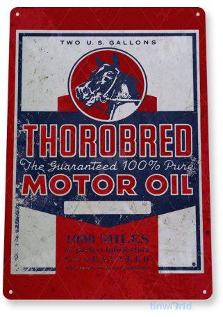 tin sign c842 thorobred motor oil retro rustic oil gas sign gas station garage auto shop sign tinworld tinsign_com