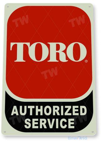 tin sign c845 toro authorized service rustic retro garage lawn mower shop sign tinworld tinsign_com