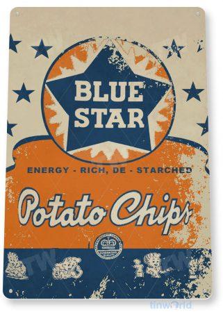 tin sign c871 blue star potato chips sign tinworld tinsign_com tinworld tinsign_com