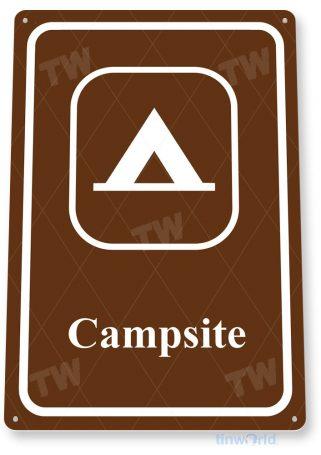tin sign c876 campsite sign tinworld tinsign_com tinworld tinsign_com