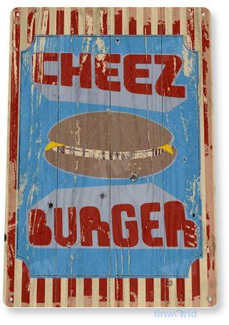tin sign c883 cheese burger sign tinworld tinsign_com tinworld tinsign_com