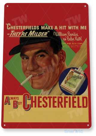 tin sign c884 chesterfield babe sign tinworld tinsign_com tinworld tinsign_com