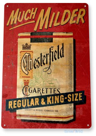 tin sign c885 chesterfield cigarettes sign tinworld tinsign_com tinworld tinsign_com
