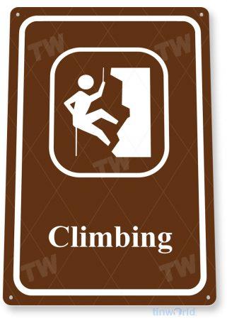 tin sign c890 climbing sign tinworld tinsign_com tinworld tinsign_com