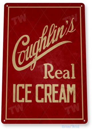 tin sign c894 coughlin's ice cream sign tinworld tinsign_com tinworld tinsign_com