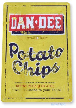 tin sign c897 dan dee chips sign tinworld tinsign_com tinworld tinsign_com