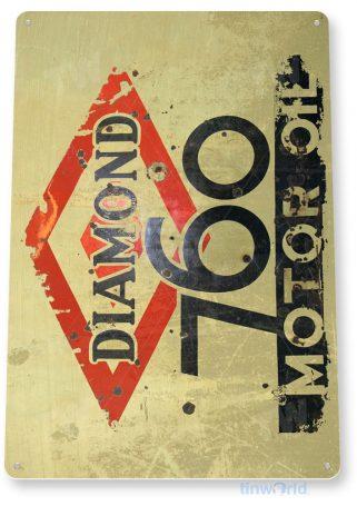tin sign c898 diamond 760 motor oil sign tinworld tinsign_com tinworld tinsign_com