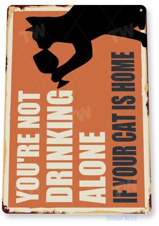 tin sign c903 drinking cat sign tinworld tinsign_com tinworld tinsign_com