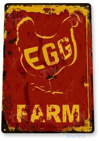 tin sign c904 egg farm sign tinworld tinsign_com tinworld tinsign_com