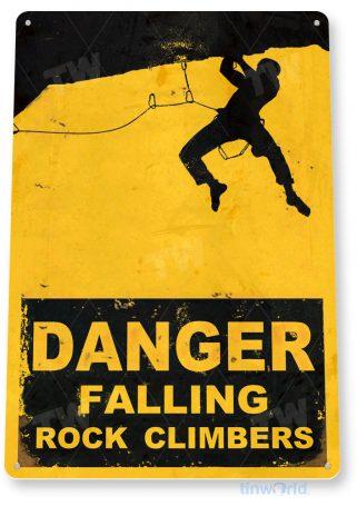 tin sign c909 falling rock climbers sign tinworld tinsign_com tinworld tinsign_com