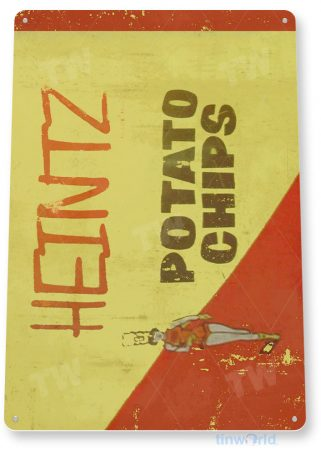 tin sign c929 heintz potato chips sign tinworld tinsign_com tinworld tinsign_com