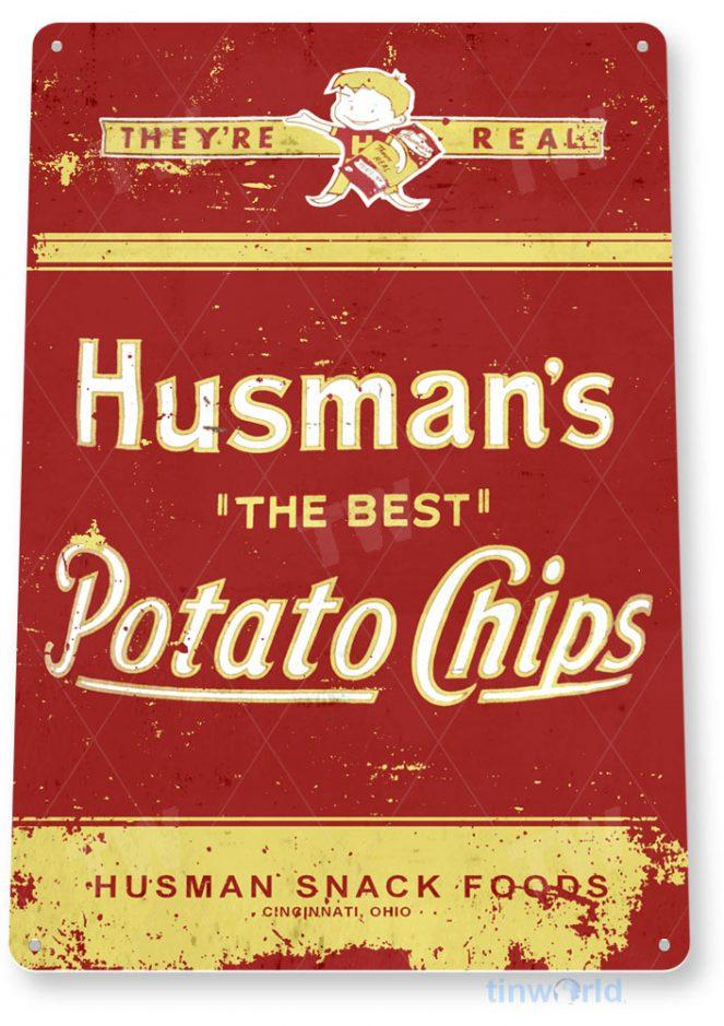 tin sign c933 husman's chips sign tinworld tinsign_com tinworld tinsign_com