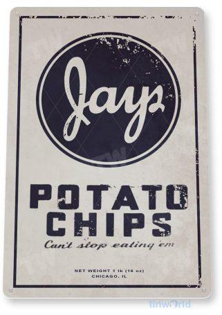 tin sign c944 jays potato chips sign tinworld tinsign_com tinworld tinsign_com