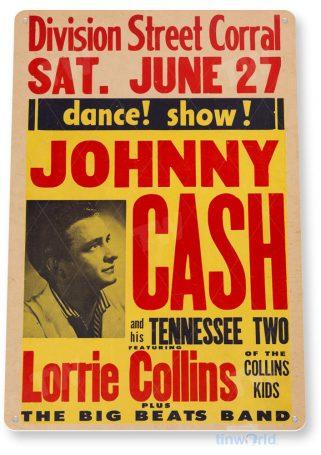 tin sign c947 jonny cash sign tinworld tinsign_com tinworld tinsign_com