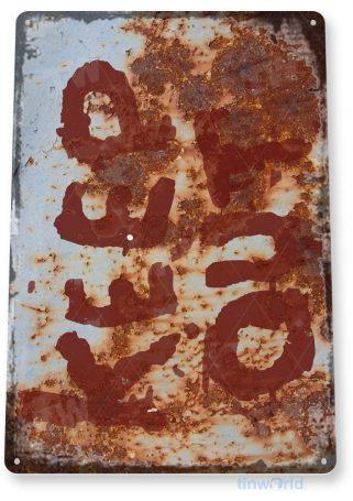 tin sign c950 keep out 2 sign tinworld tinsign_com tinworld tinsign_com