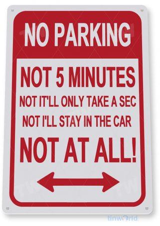 tin sign c975 no parking at all sign tinworld tinsign_com tinworld tinsign_com