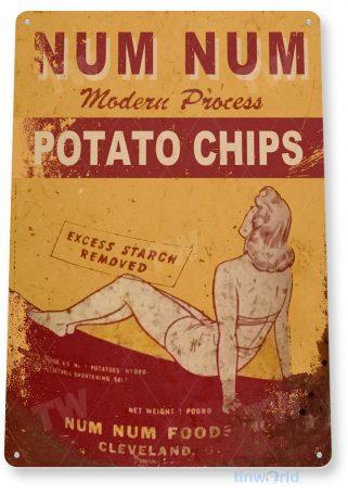 tin sign c976 num num potato chips sign tinworld tinsign_com tinworld tinsign_com