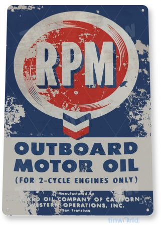 tin sign c988 rpm outboard motor oil sign tinworld tinsign_com tinworld tinsign_com