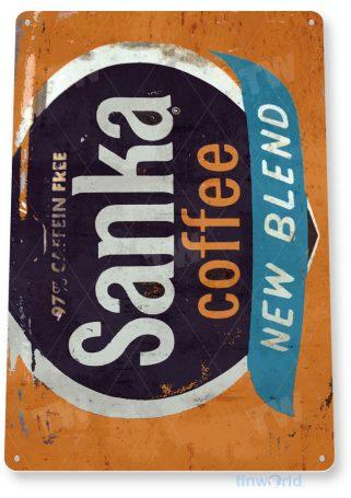 tin sign c989 sanka coffee sign tinworld tinsign_com tinworld tinsign_com
