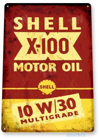 tin sign c992 shell x-100 sign tinworld tinsign_com tinworld tinsign_com