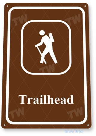 tin sign d007 trailhead sign tinworld tinsign_com tinworld tinsign_com