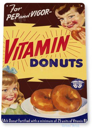 tin sign d015 vitamin donuts sign tinworld tinsign_com tinworld tinsign_com