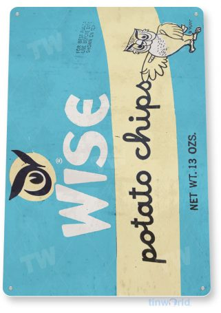 tin sign d019 wise potato chips sign tinworld tinsign_com tinworld tinsign_com