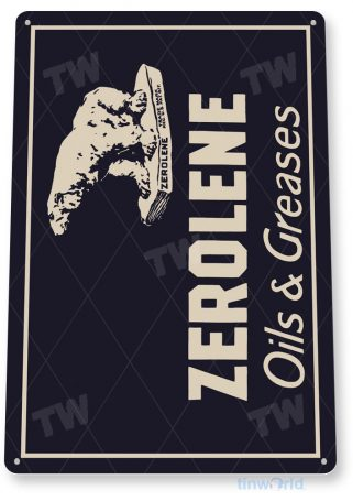 tin sign d023 zerolene oils greases sign tinworld tinsign_com tinworld tinsign_com