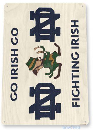 tin sign d032 fighting irish sign tinworld tinsign_com tinworld tinsign_com