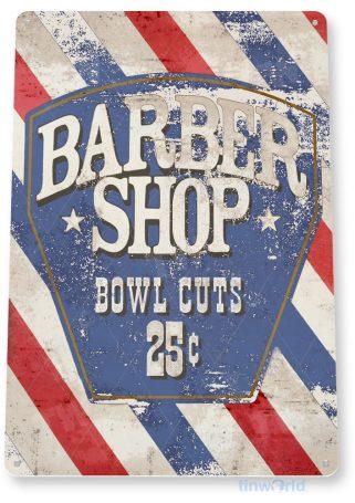 tin sign d042 barber shop bowl cut sign tinworld tinsign_com tinworld tinsign_com