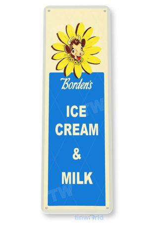 tin sign a018 borden's ice cream & milk sign retro kitchen farm cottage store tinworld tinsign_com