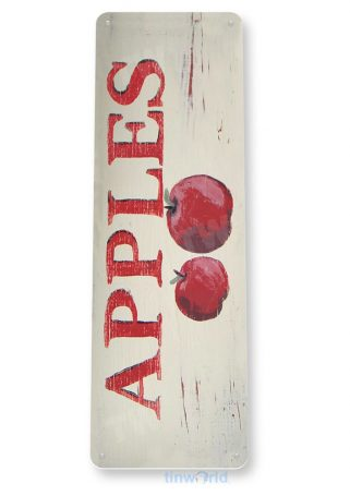 tin sign a216 rustic apples garden sign kitchen cottage orchard farm tinworld tinsign_com