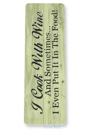 tin sign a305 cook with wine rustic sign kitchen cottage farm tinworld tinsign_com