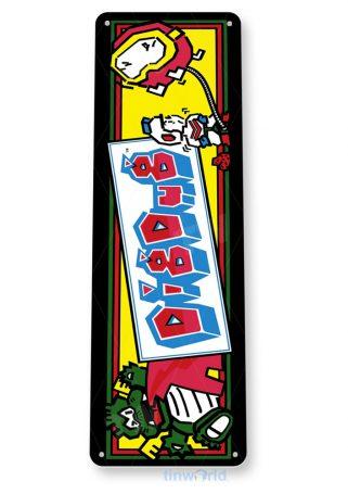tin sign a326 dig dug arcade shop game room marquee sign retro console tinworld tinsign_com