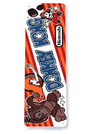 tin sign a331 donkey kong arcade shop game room marquee sign retro console tinworld tinsign_com