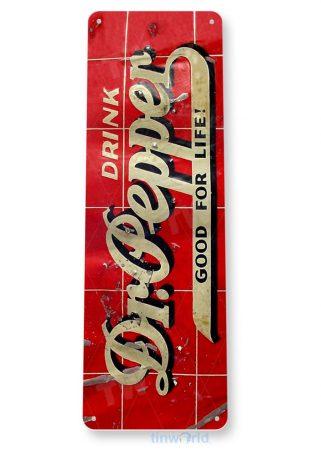 tin sign a341 dr pepper rustic retro cola sign kitchen cottage farm cave tinworld tinsign_com