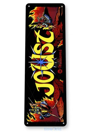 tin sign a457 joust arcade game room marquee sign retro arcade console tinworld tinsign_com