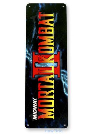 tin sign a509 mortal kombat 2 arcade shop game room marquee sign retro console tinworld tinsign_com