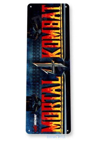 tin sign a510 mortal kombat 4 arcade shop game room marquee sign retro console tinworld tinsign_com