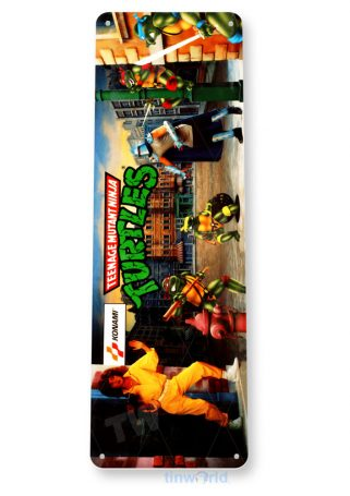 tin sign a524 ninja turtles arcade shop game room marquee sign retro console tinworld tinsign_com