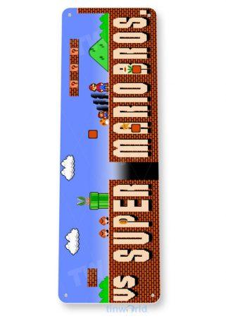tin sign a636 super mario bros arcade shop game room marquee sign retro console tinworld tinsign_com
