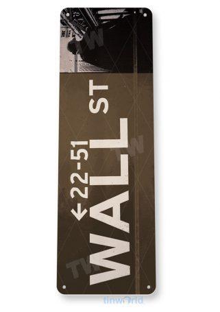 tin sign a832 wall street sign new york store money stock index market bull tinworld tinsign_com