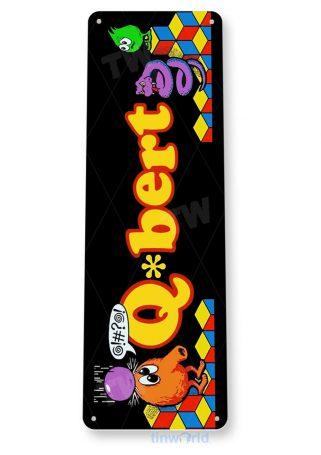 tin sign a840 q-bert arcade shop game room marquee sign retro console cave tinworld tinsign_com