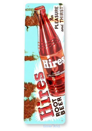 tin sign a875 hires root beer rustic bottle sign kitchen cottage farm cave tinworld tinsign_com