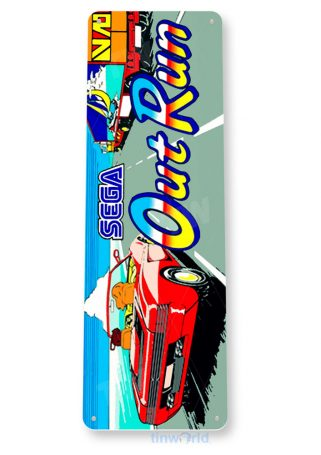 tin sign a894 out run arcade racing game room marquee sign retro console tinworld tinsign_com