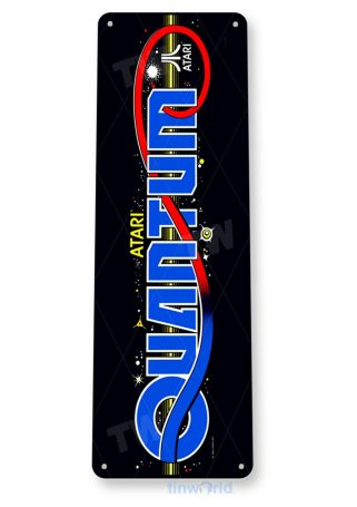 tin sign a896 quantum arcade game room marquee sign retro console tinworld tinsign_com