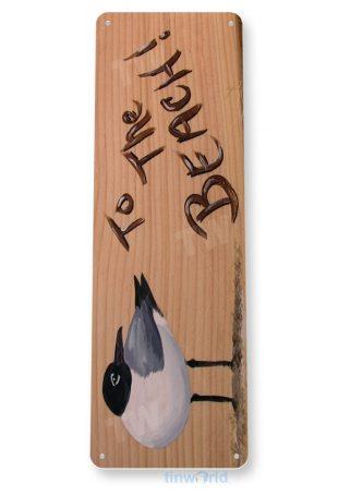 tin sign b020 beach bird rustic beach house sign cottage cave tinworld tinsign_com